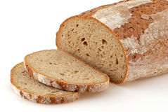 Loaf of bread. Loaf of a German bread in front of a white background Royalty Free Stock Photography