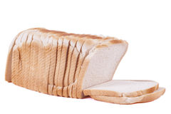 Loaf of Bread. A white sliced loaf of fresh bread Stock Photo