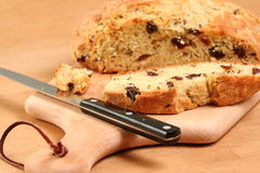 Loaf of Bread. Sliced loaf of Irish Soda Bread on a Stock Photography