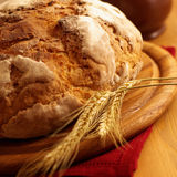 Loaf of bread. And ear Royalty Free Stock Image