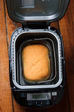 The loaf of bread baked in the bread machine Stock Image