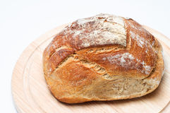 Loaf of Bread on Board Royalty Free Stock Photography