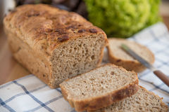 Loaf of bread. On cutting board Royalty Free Stock Images