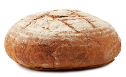 A loaf of bread dusted with flour Royalty Free Stock Image