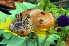 Loaf of bread in the form of a ladybird Royalty Free Stock Photo