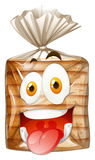 Loaf of bread with happy face Royalty Free Stock Photo