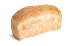 Loaf of bread isolated over white royalty free stock photography