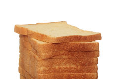 Loaf of bread isolated on white Stock Photo