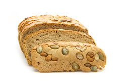 Bread. Loaf of bread isolated on white background Royalty Free Stock Image