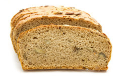 Bread. Loaf of bread isolated on white background Royalty Free Stock Photo