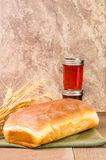 Loaf of bread with jar of jelly Royalty Free Stock Photography