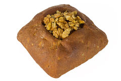 Loaf of bread with Nuts Royalty Free Stock Image