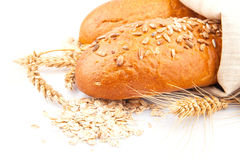 Loaf of bread with oat flakes Stock Photos