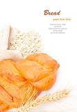 Loaf of bread with oat flakes Stock Photo