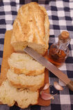 Loaf of bread and oil Stock Photo