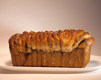 Loaf of bread on a platter Royalty Free Stock Image