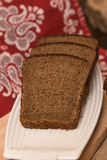 Loaf of bread and rye ears Stock Images