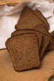 Loaf of bread and rye ears Stock Image