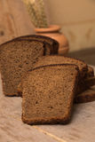 Loaf of bread and rye ears Royalty Free Stock Image