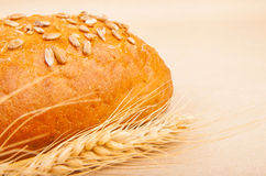 Loaf of bread with seeds Stock Photo