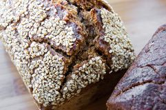 Loaf of bread with sesame Royalty Free Stock Photography