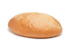 Loaf of bread with sesame isolated Stock Photo