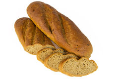 Loaf of bread with sliced piaces Royalty Free Stock Image