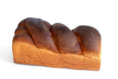 Loaf of bread. Loaf of sweet bread isolated on white background royalty free stock photography