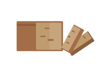 Loaf of Bread Vector Illustration in Flat Design Stock Images