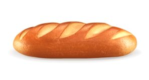 Loaf of bread, vector illustration. On white background Stock Photos