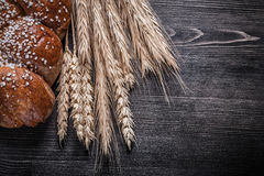 Loaf of bread wheat rye ears food and drink Royalty Free Stock Photos