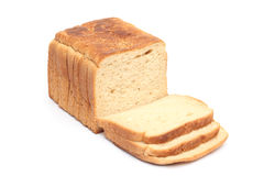 Loaf of the bread on white Stock Image