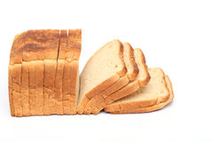 Loaf of bread  on white Royalty Free Stock Photos
