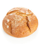 Loaf of bread on white Royalty Free Stock Photography