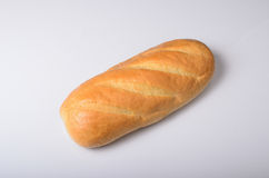 Loaf of bread on the white Stock Image