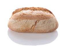 Loaf of bread on a white background Stock Images