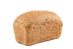 Loaf of bread on white background. Stock Photos