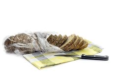 A loaf of bread on a white background royalty free stock images