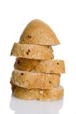 Loaf of breads. On top of each other stock photography