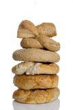 Loaf of breads. On top of each other royalty free stock photography