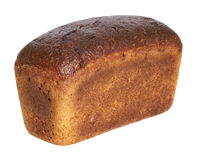 Loaf of brown bread. On a white background stock images