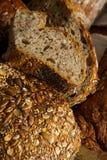 Loaf of brown multigrain bread Stock Image