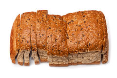 Loaf of Brown Sliced Grain Bread Royalty Free Stock Photography