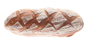 Loaf of buckwheat bread close-up on a white background. Royalty Free Stock Images