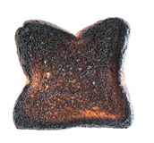 Loaf of burnt bread Stock Images