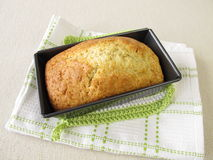 Loaf cake in baking tin Royalty Free Stock Photography