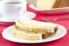Loaf cake with cheese icing Stock Photography