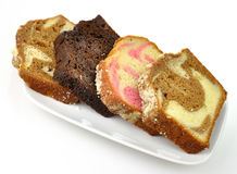 Loaf cake slices Stock Photos