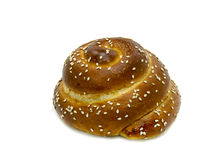 Loaf of challah bread on white Royalty Free Stock Photos