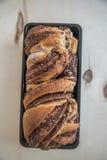 Loaf of chocolate babka Stock Images